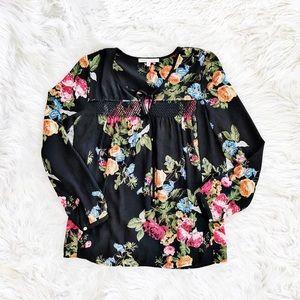 Daniel Rainn floral print boho blouse